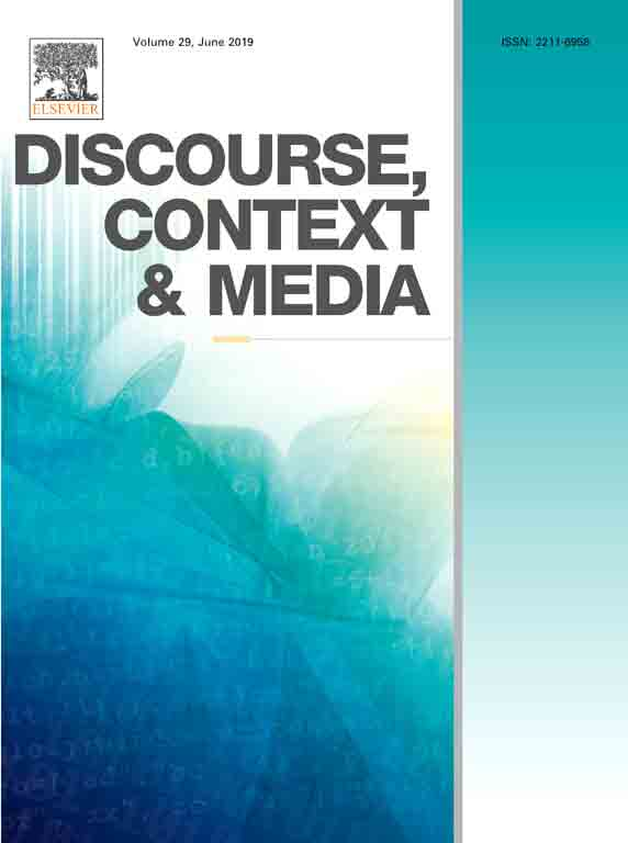 Discourse, Context & Media